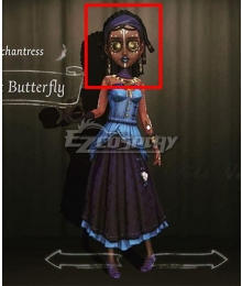 Identity V Enchantress Patricia Dorval Violet Butterfly Black Halloween Cosplay Wig