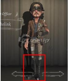 Identity V First Officer Jose Baden Bobolink Black Shoes Cosplay Boots