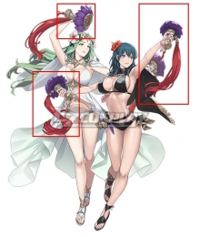 Fire Emblem: Three House Heros Byleth Rhea Female Swimsuit Summer Cosplay Accessory Prop
