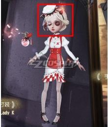 Identity V Perfumer Vera Nair Lady K White Halloween Cosplay Wig