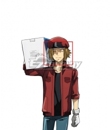 Cells At Work Code  Black Red Cell AC1677 Golden Cosplay Wig