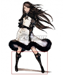 Bravely Default For the Sequel Agnes Oblige Black Shoes Cosplay Boots