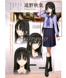 Tsukihime Akiha Tohno Black Cosplay Wig