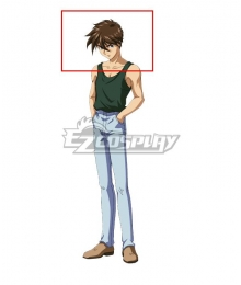 Mobile Suit Gundam Wing Heero Yuy Brown Cosplay Wig