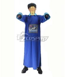 Qing Dynasty Hopping Vampire Blue Halloween Cosplay Costume