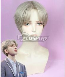 Idol Producer Cai Xukun KUN Grey Cosplay Wig