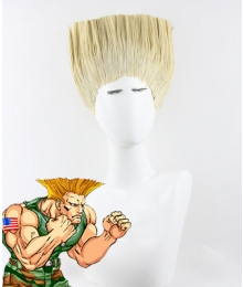 Street Fighter Guile Golden Cosplay Wig