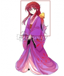 Touhou Project Kotohime Red Cosplay Wig