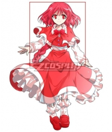 Touhou Project Okazaki Yumemi Red Cosplay Wig