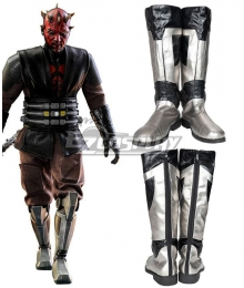 Star Wars: The Clone Wars Darth Maul Silver Shoes Cosplay Boots
