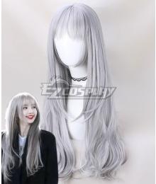 BlackPink Lisa Grey Cosplay Wig