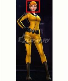 Marvel Future Fight Crystal Crystalia Amaquelin Orange Halloween Cosplay Wig