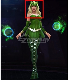 Marvel Future Fight Enchantress Amora Golden Halloween Cosplay Wig