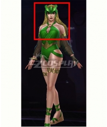 Marvel Future Fight Enchantress Amora Summer Days Golden Halloween Cosplay Wig