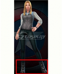 Marvel Future Fight Agent 13 Civil War Black Shoes Cosplay Boots