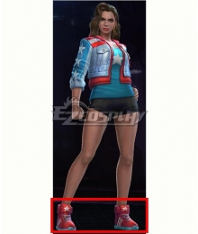 Marvel Future Fight America Chavez Red Shoes Cosplay Boots