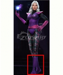 Marvel Future Fight Clea Strange Purple Shoes Cosplay Boots