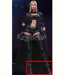 Marvel Future Fight Emma Frost Marvel Now! Black Shoes Cosplay Boots
