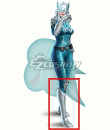 Marvel Future Fight White Fox Ami Han White Shoes Cosplay Boots