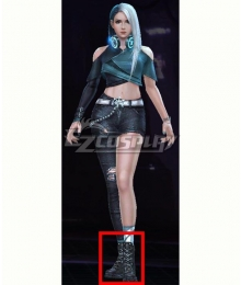 Marvel Future Fight Luna Snow Seol Hee Lifestyle Series 1 Black Shoes Cosplay Boots
