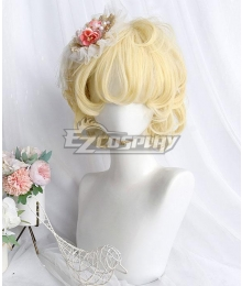 Japan Harajuku Lolita Series Prince Bonnie Golden Cosplay Wig