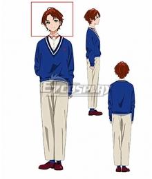 Wonder Egg Priority Momoe Sawaki Red Cosplay Wig