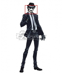 High-Rise Invasion Sniper Mask Black Cosplay Wig