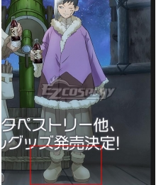 Dr.Stone Gen Asagiri Winter Silver Shoes Cosplay Boots