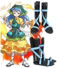 Touhou Project Haniyasushin Keiki Blue Shoes Cosplay Boots