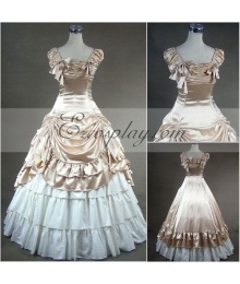 Apricot Sleeveless Gothic Lolita Dress Cosplay Costume