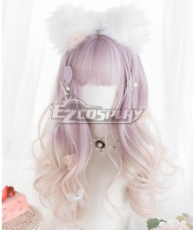 Japan Harajuku Lolita Series Po Po Po Po Pink Cosplay Wig
