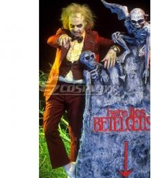 Beetlejuice Betelgeuse Halloween Red Cosplay Costume
