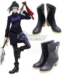 Jujutsu Kaisen Sorcery Fight Maki Zenin Black Cosplay Shoes