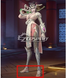 Overwatch OW Pale Serpent Widowmaker Halloween Pink Cosplay Shoes