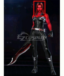 Marvel Future Fight Red She-Hulk Red Black Cosplay Wig