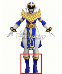 Power Rangers: Battle for the Grid Street Fighter Blue Phoenix Ranger Chun-Li Ranger Blue Shoes Cosplay Boots