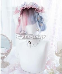 Japan Harajuku Lolita Series  Golden Pink Blue Cosplay Wig - EWL169Y