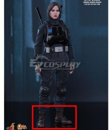 Rouge One Star Wars Jyn Erso Pilot Suit Brown Cosplay Shoes
