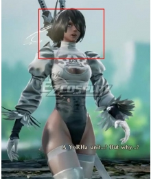 Soul Calibur 6 Nier 2B White Grey Cosplay Wig