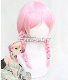 Arknights Blue Poison Shoal Beat Pink Cosplay Wig