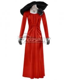 Resident Evil 8 Village Alcina Dimitrescu Vampire Lady Dimitrescu Dress Red Version Cosplay Costume