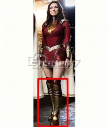 DC Shazam! Fury Of The Gods Mary Bromfield Golden Shoes Cosplay Boots