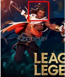 League of Legends LOL Akshan Black Cosplay Wig