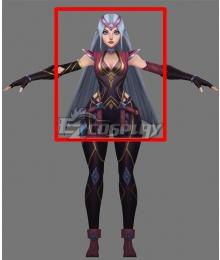 League of Legends LOL Resolute Sentinel Irelia Silver Grey Cosplay Wig
