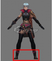 League of Legends LOL Resolute Sentinel Riven Black Cosplay Shoes