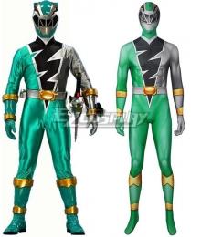 Power Rangers Dino Fury Green Ranger Printed Jumpsuit Zentai Cosplay Costume