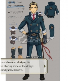 The Great Ace Attorney Chronicles The Ancestral Ace Attorney Ryunosuke Naruhodo DLC Cosplay Costume