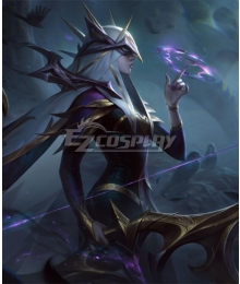 League of Legends LOL Coven Ashe Cosplay Costume