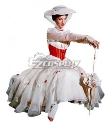 Disney Mary Poppins White Dress Halloween Cosplay Costume