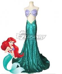 Disney The Little Mermaid Ariel Princess Merman Dress Halloween Cosplay Costume
